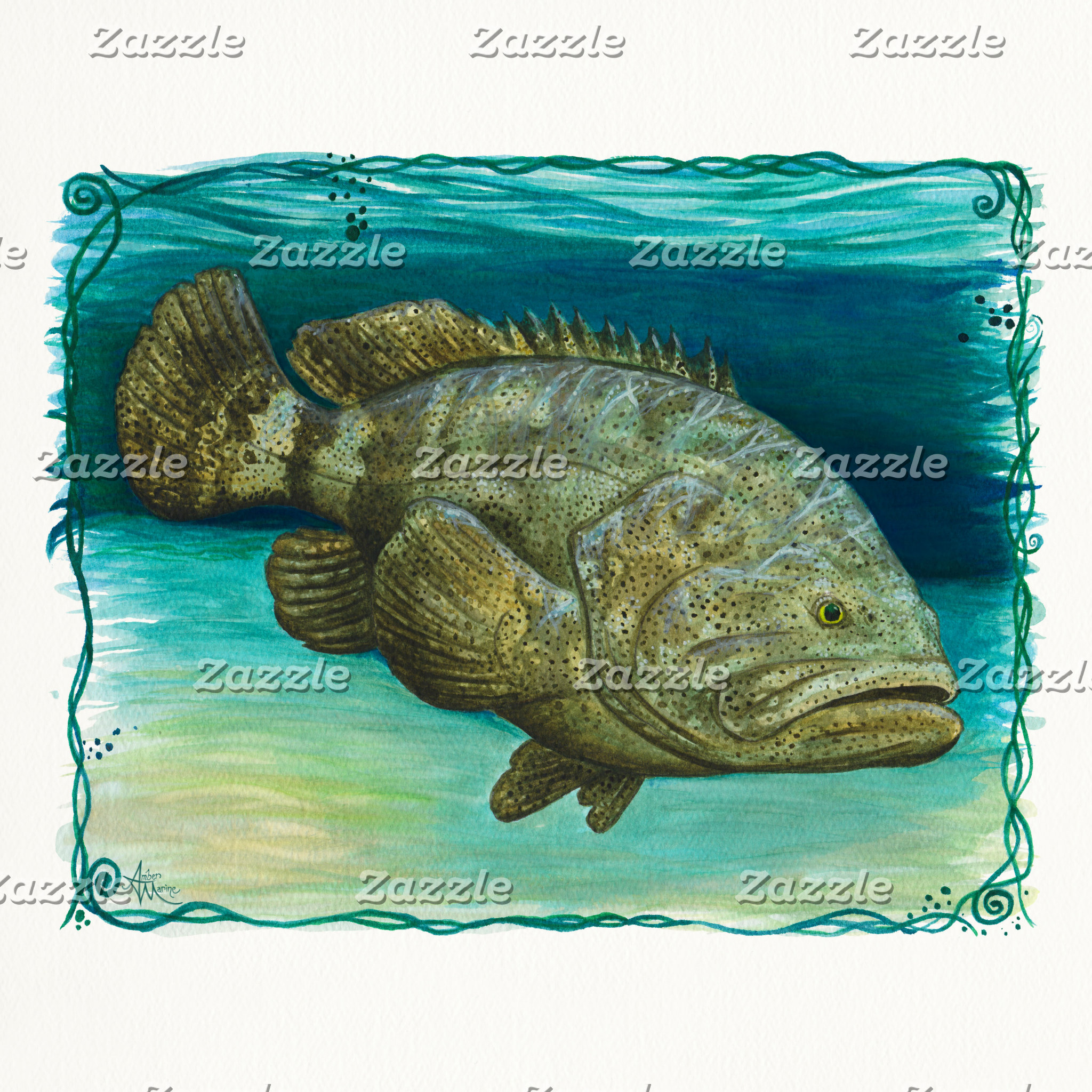Art: Goliath Grouper