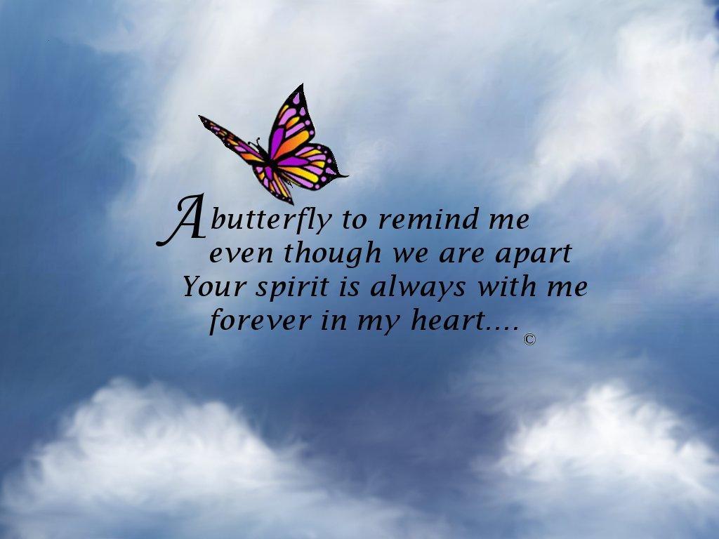 Butterfly Memorial Poem