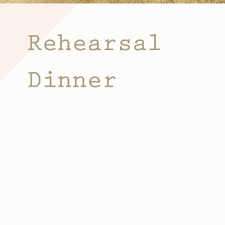 Rehearsal Dinner Cards