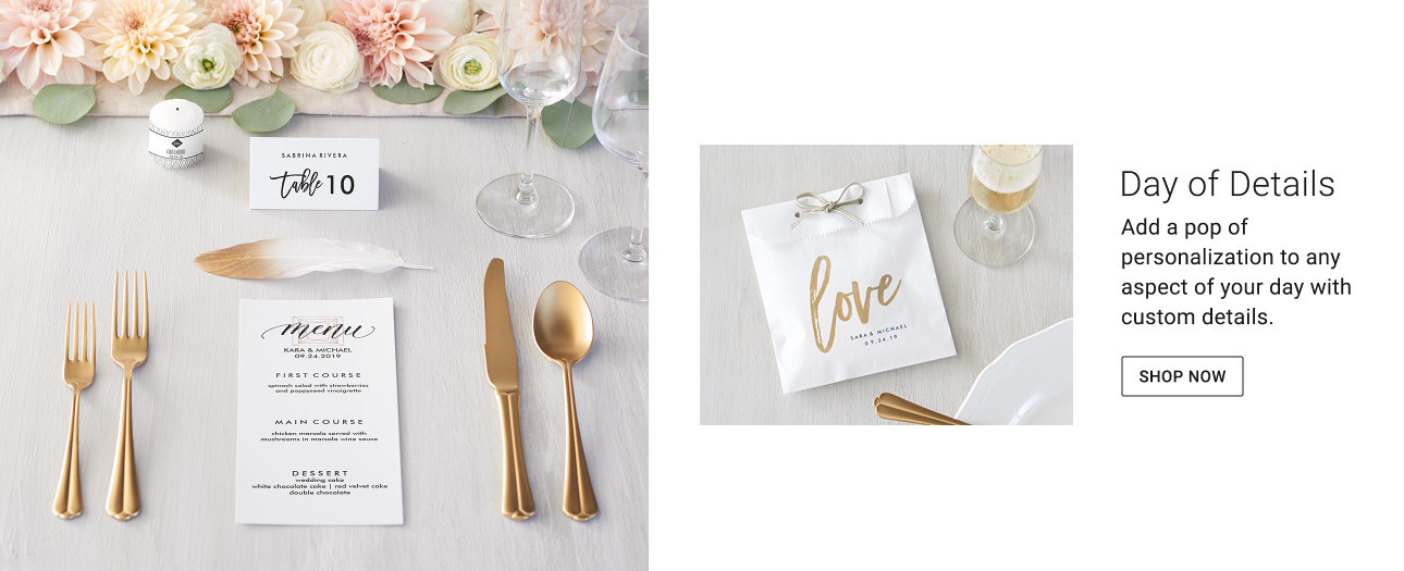 Parties - Throw the perfect personalized party for the happy couple.