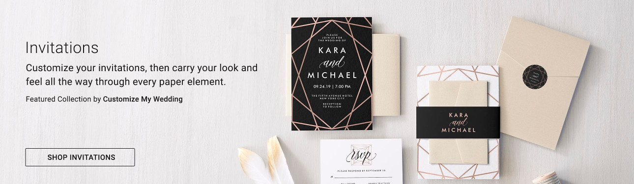 Invitations - Fall in love with our customizable designs