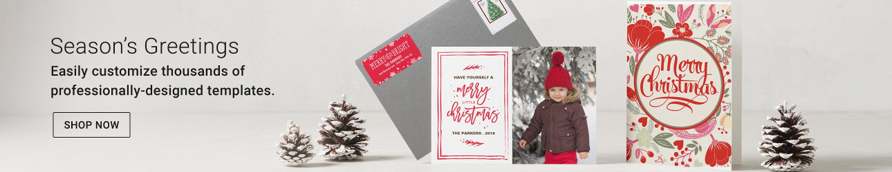 Christmas Cards that you can customize easily with hundred of unique templates
