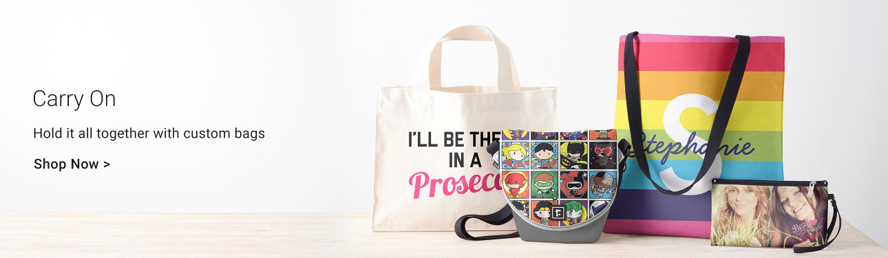 Carry On - Hold it all together with custom bags!