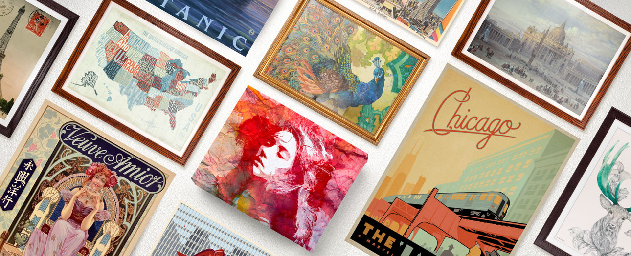 Changez de décor ! - 40 % sur les posters et les toiles.