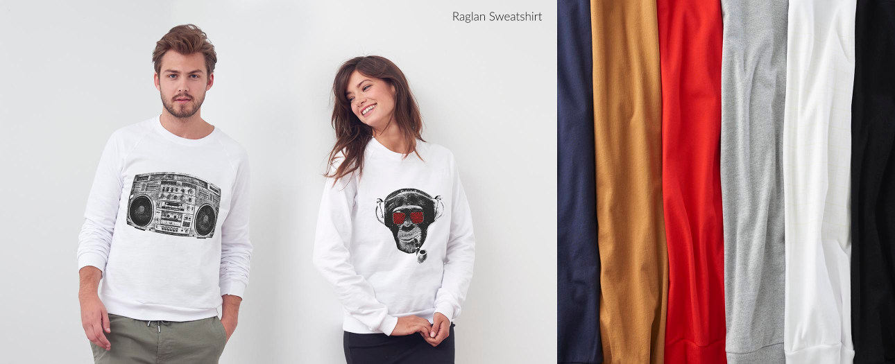 Raglan Sweatshirts for Men & Women
