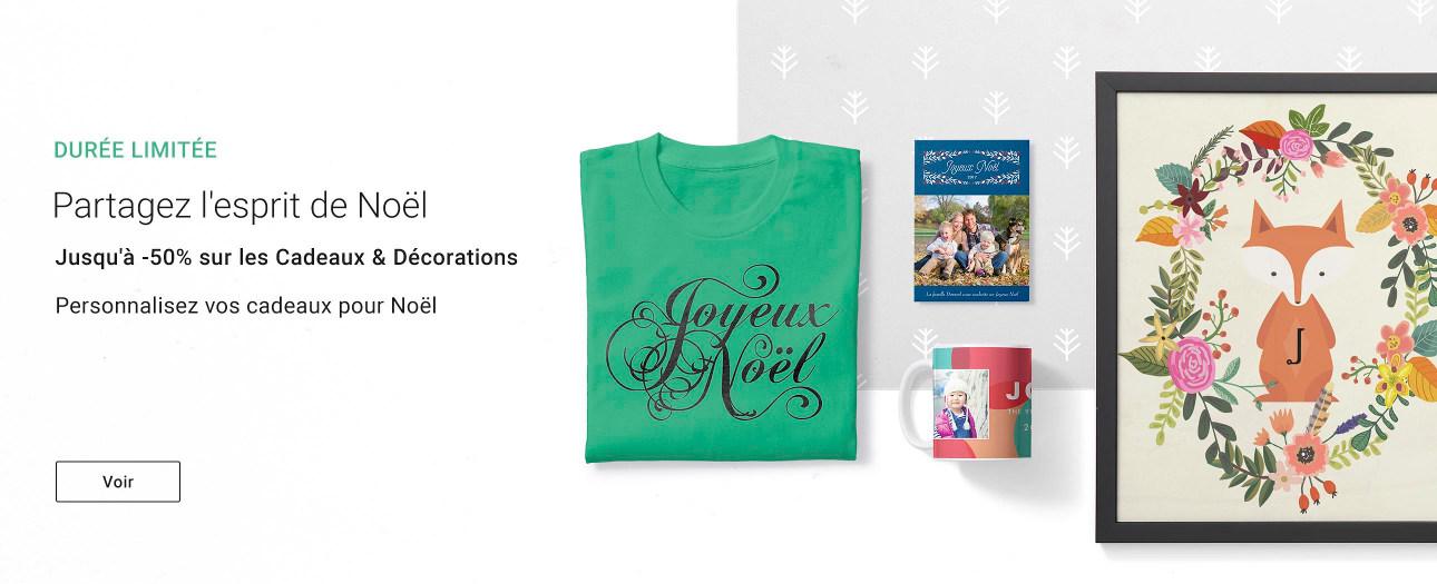 Jusqu'à -50% sur les Cadeaux & Décorations