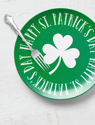 See more of our St. Patrick's Day Plates and personalize by color, design, or style.