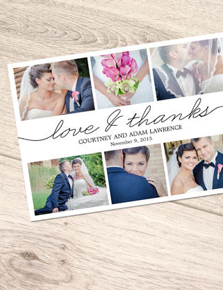 Browse the Photo Thank You Postcards Collection and personalize by color, design, or style.