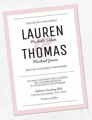 Modern Wedding Invitaitons