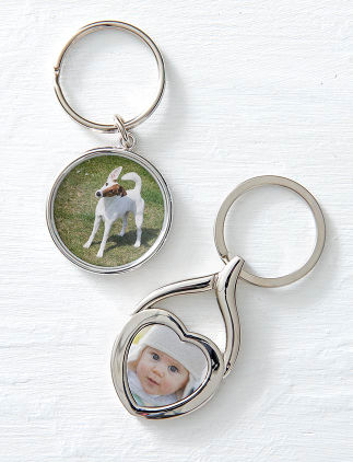 Customisable key chains from Zazzle