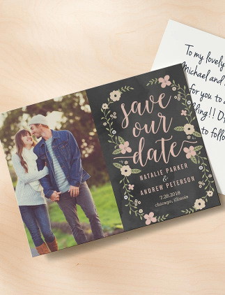 Floral Save the Date Postcards