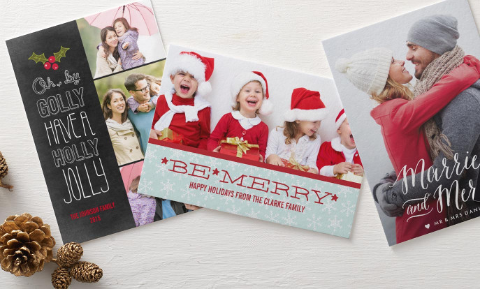 Create your very own christmas cards and personalize by color, design, or style.