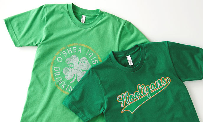 See more of our St. Patrick's Day T-shirts and personalize by color, design, or style.