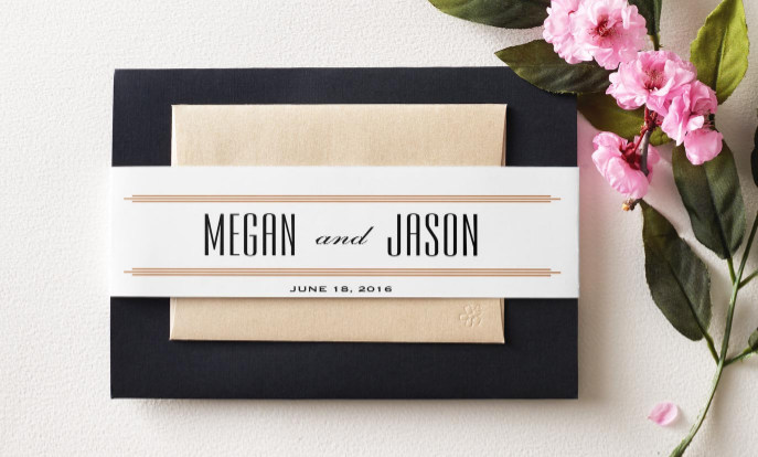 Find Invitation Belly Bands Designed for Wedding