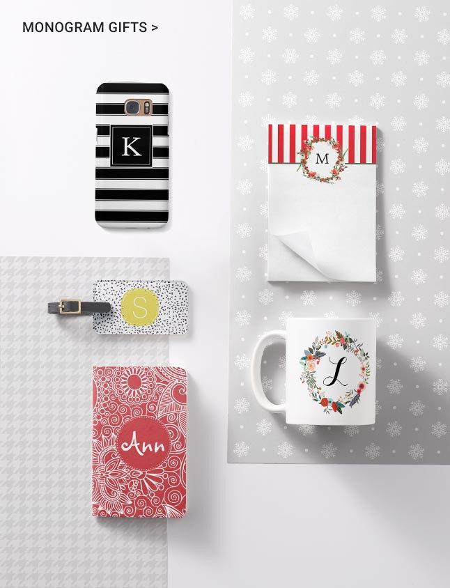 Monogram or Initial Christmas Gift Ideas