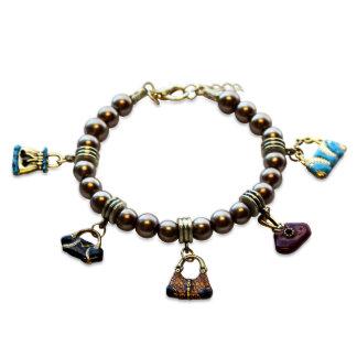 Bracelet de charme d'amant de bourse