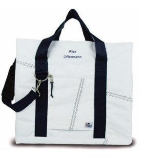 Newport XL Navy Strap Tote Bag