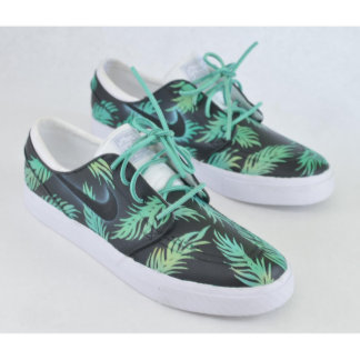 Sea Foam Green & Gold Tropical Floral Nike SB