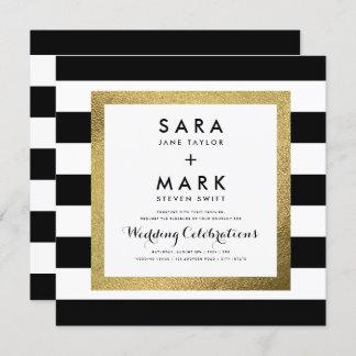 Gold foil wedding invitations announcements zazzle ca for Gold foil wedding invitations canada