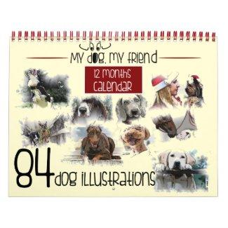 Mon chien, mon ami 84 illustrations calendriers muraux