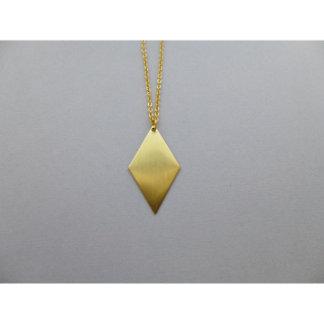 Collier géométrique de charme de diamant