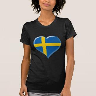 Svensk hjärta charm T-Shirt