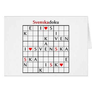 svenskadoku card