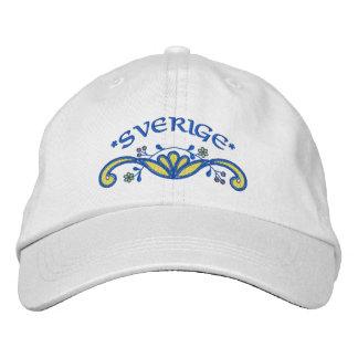 Sverige: Sweden Flourish Embroidered Baseball Caps