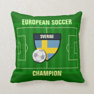 Sverige Sweden Soccer Champion Throw Pillow