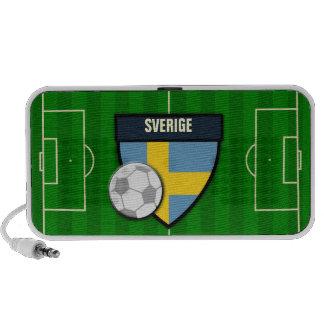 Sverige Sweden Soccer Flag Football Mini Speaker