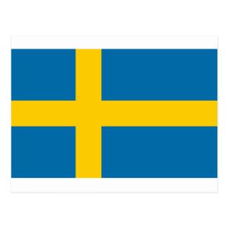 Sveriges Flagga - Flag of Sweden - Swedish Flag Postcard