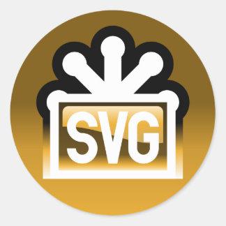 SVG Full Round Sticker