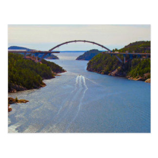 Svinesund new bridge postcard