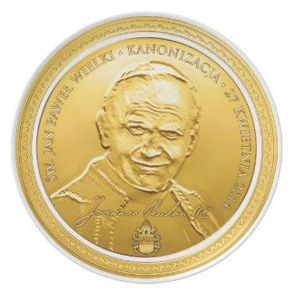 Św Jan Paweł II Kanoniza Pamiątka Płytka, Polski Plate