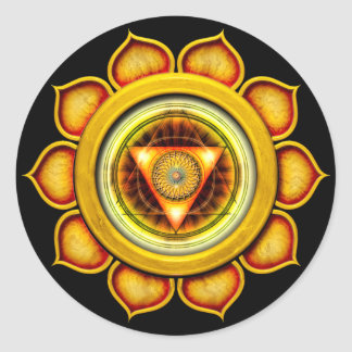Swadhisthana or Sacral the 2nd Chakra Round Sticker