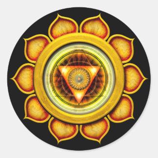 Swadhisthana or Sacral the 2nd Chakra Round Sticker