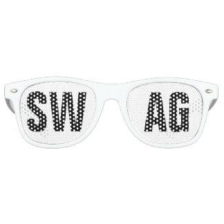 'SWAG' Black and White Party Retro Sunglasses