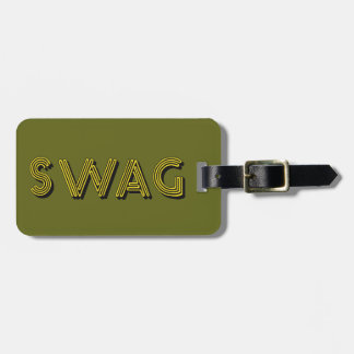 SWAG custom luggage tag