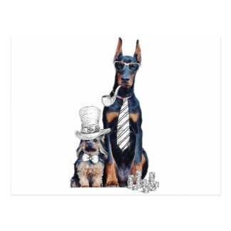 Swag Funny Party Dog Style Glasses Postcard