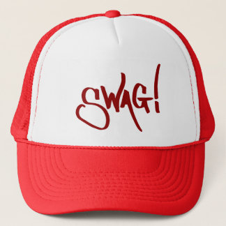 Swag Tag - Red Trucker Hat