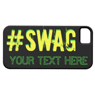 SWAG with customizable text iPhone 5 Cases