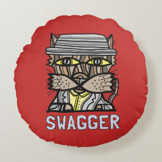 """Swagger"" Round Throw Pillow"