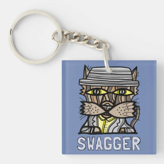 """Swagger"" Square (double-sided) Keychain"