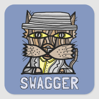 """Swagger"" Square Sticker (Sheet of 6)"