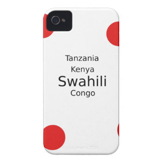 Swahili Language (Kenya, Tanzania, And The Congo) iPhone 4 Cover