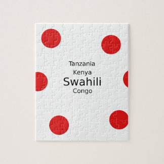 Swahili Language (Kenya, Tanzania, And The Congo) Jigsaw Puzzle