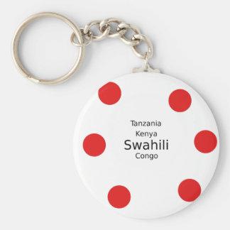 Swahili Language (Kenya, Tanzania, And The Congo) Keychain