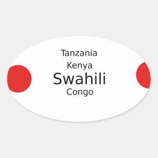 Swahili Language (Kenya, Tanzania, And The Congo) Oval Sticker