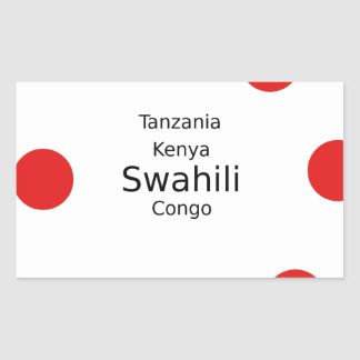 Swahili Language (Kenya, Tanzania, And The Congo) Sticker