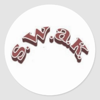 SWAK sticker